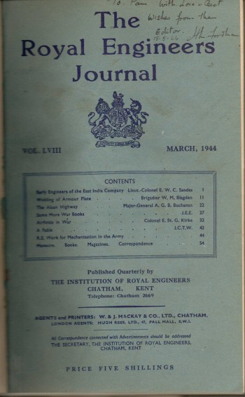 Image for Royal Engineers Journal 1944 (4 bound Journals)