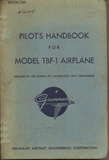 Image for Pilots Handbook for Model TBF-1 Airplane