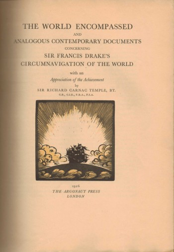 Image for The World Encompassed and Analogous Contemporary Documents concerning Sir Francis Drake's Circumnavigation of the World
