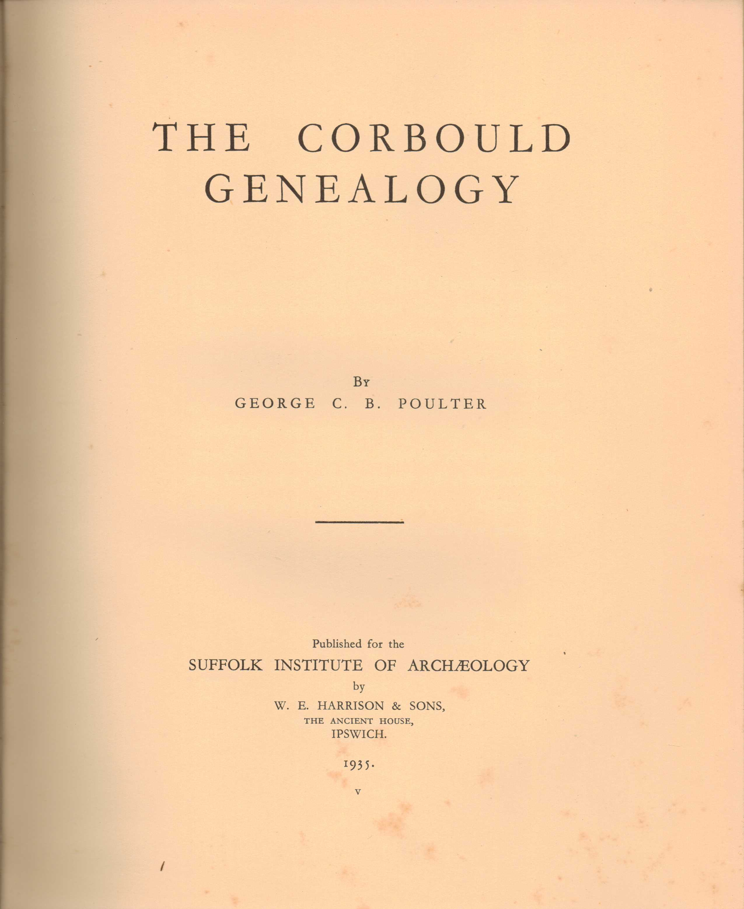 Image for The Corbould Genealogy