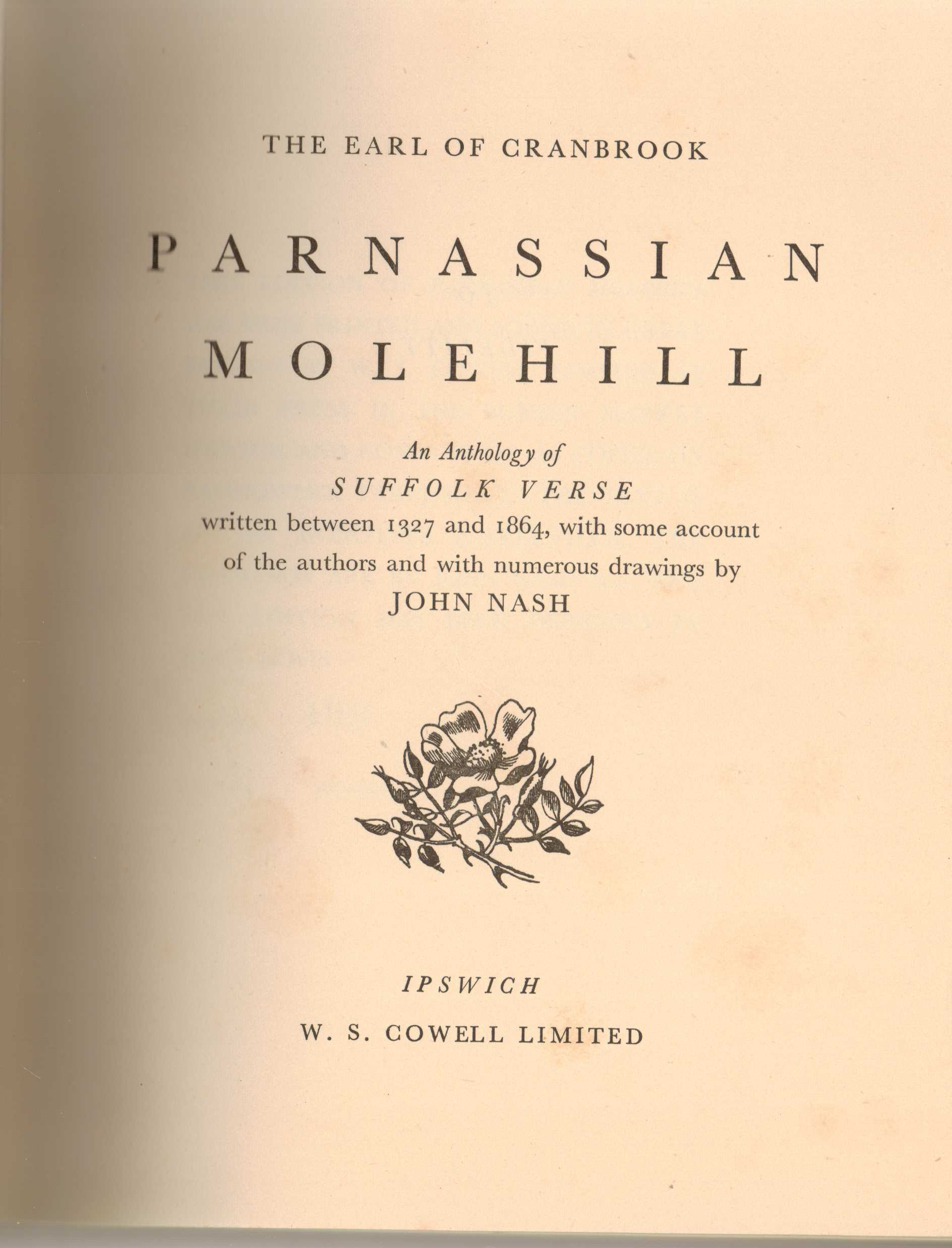Image for Parnassian Molehill : An Anthology of Suffolk Verse written between 1327 and 1864, with some account of the authors and with numerous drawings by John Nash