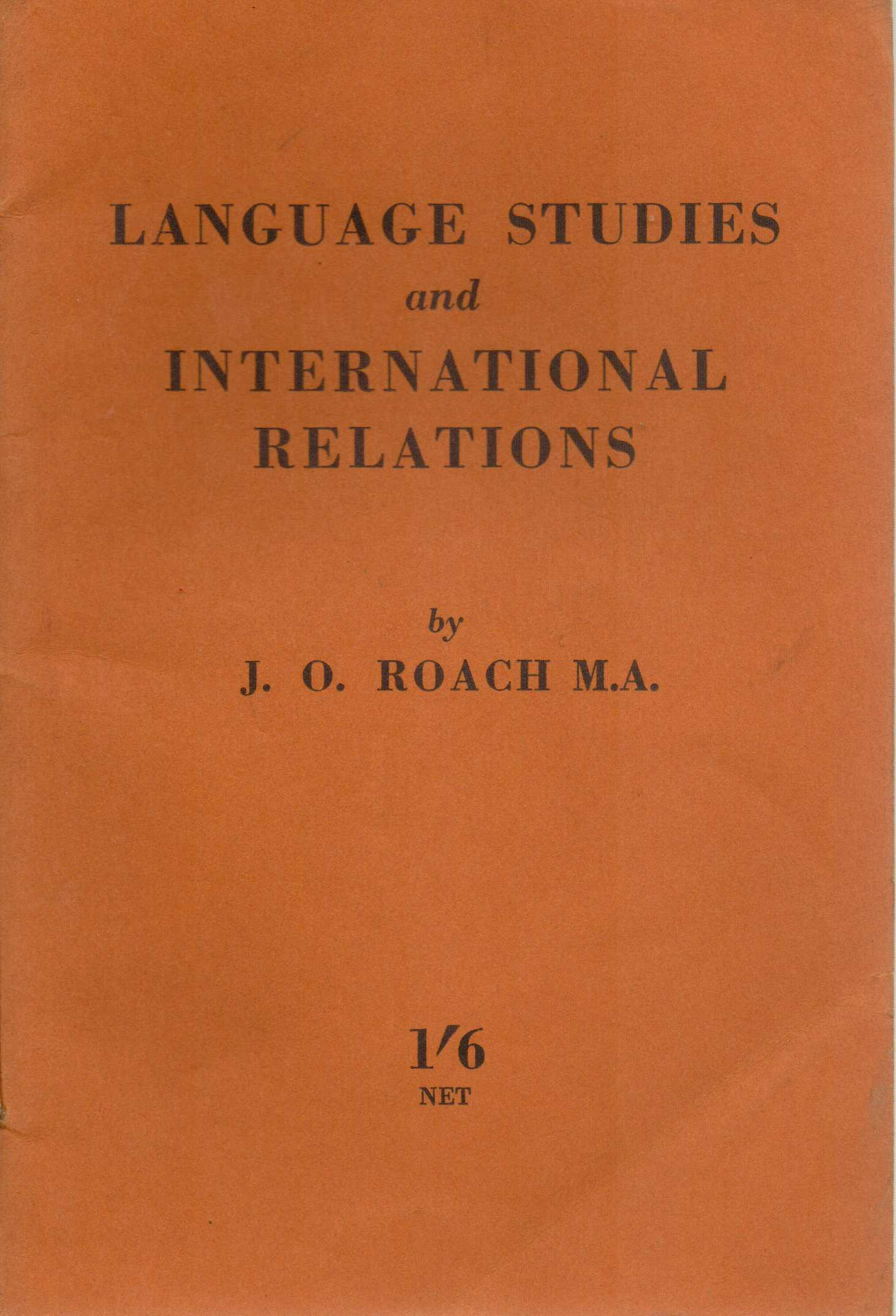 Image for Language Studies and International Relations