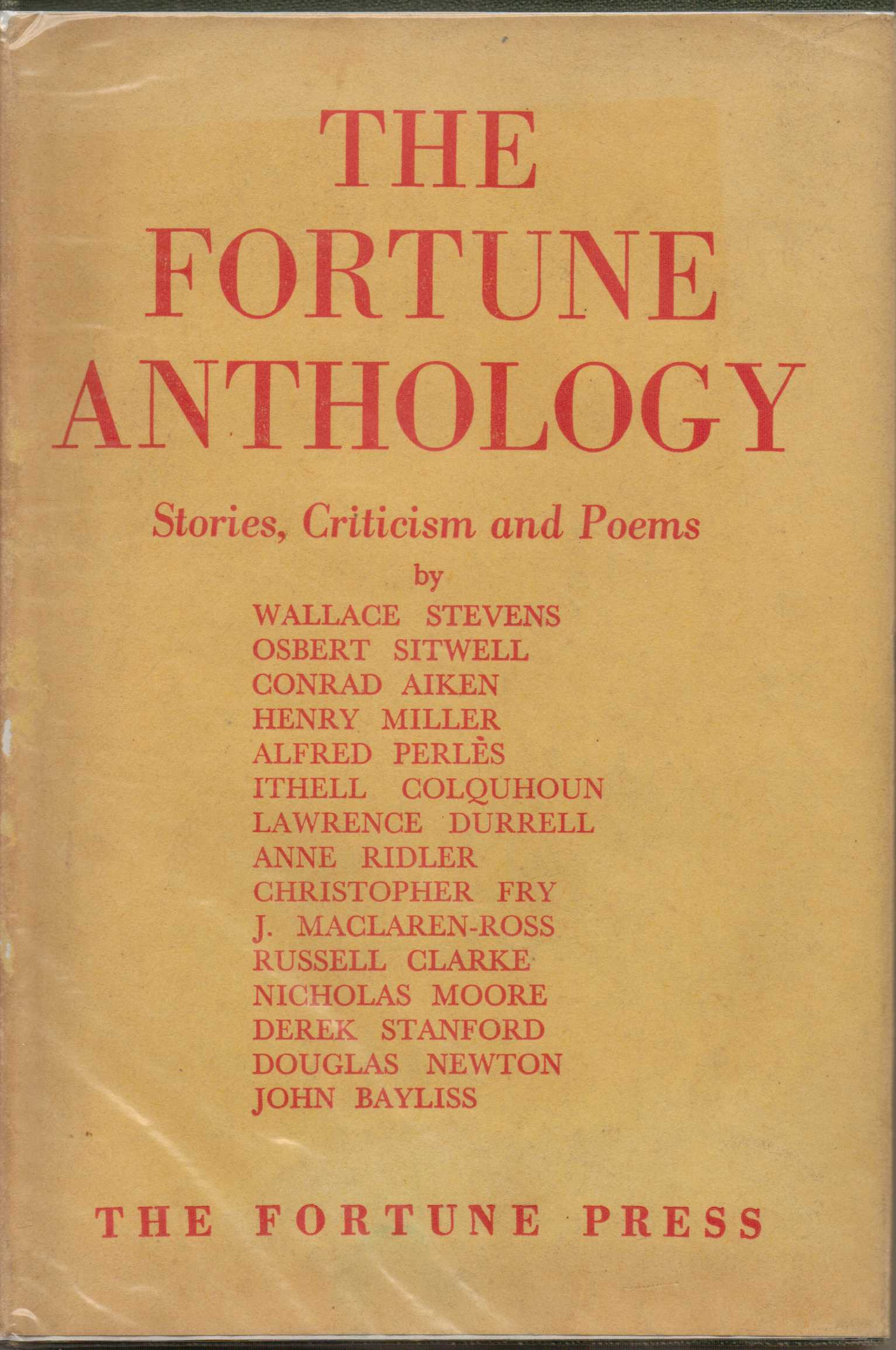 Image for The Fortune Anthology : Stories, Criticism and Poems