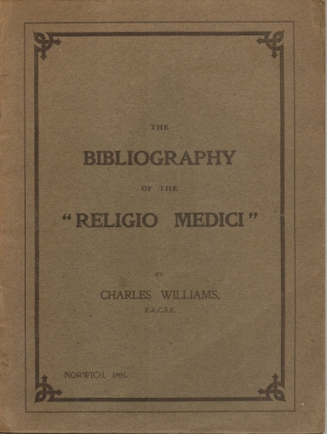 "Image for The Bibliography of the ""Religio Medici"""