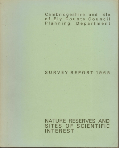 Image for Nature Reserves and Sites of Scientific Interest Survey Report 1965