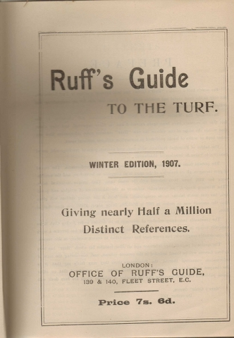 Image for Ruff's Guide to the Turf : Winter Edition 1907