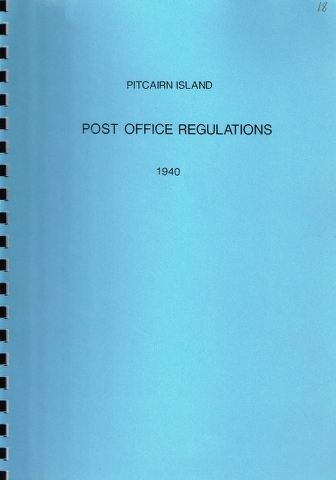 Image for Pitcairn Island : Post Office Regulations 1940