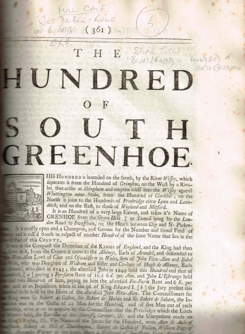 Image for The Hundred of South Greenhoe