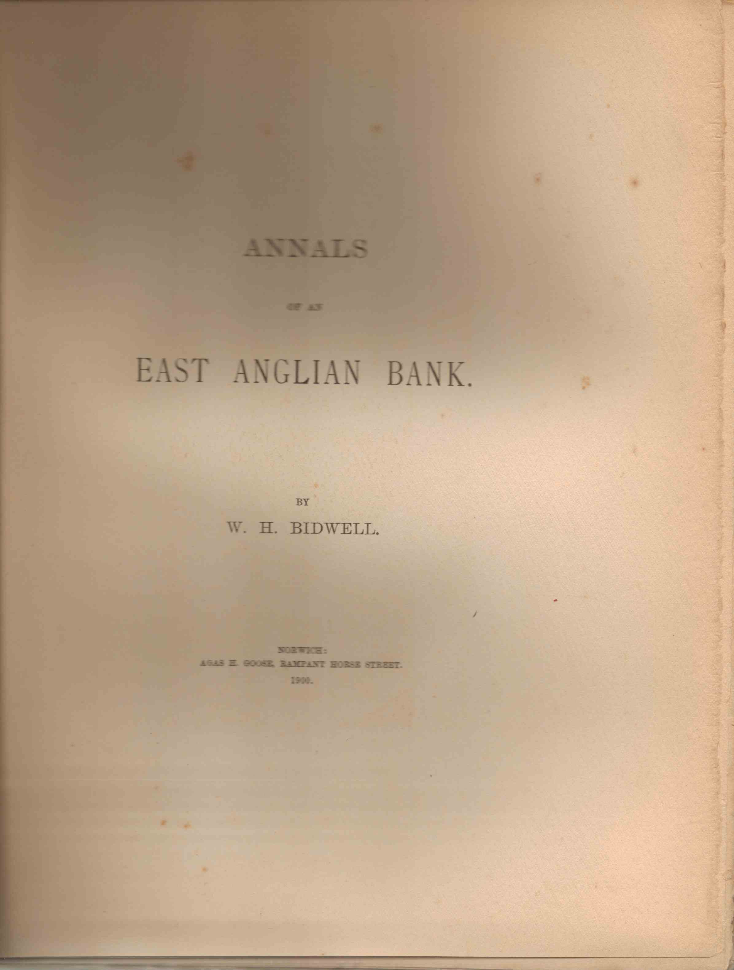 Image for Annals of an East Anglian Bank