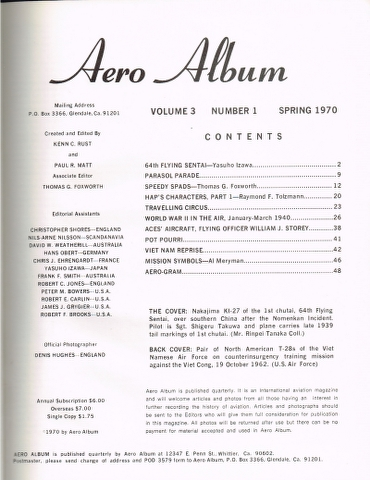 Image for Aero Album Volume 3 Number 1 Spring 1970 to Volume 4 Number 4 Winter 1971