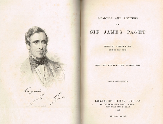 Image for Memoirs and Letters of Sir James Paget