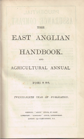 Image for The East Anglian Handbook, and Agricultural Annual for 1888.