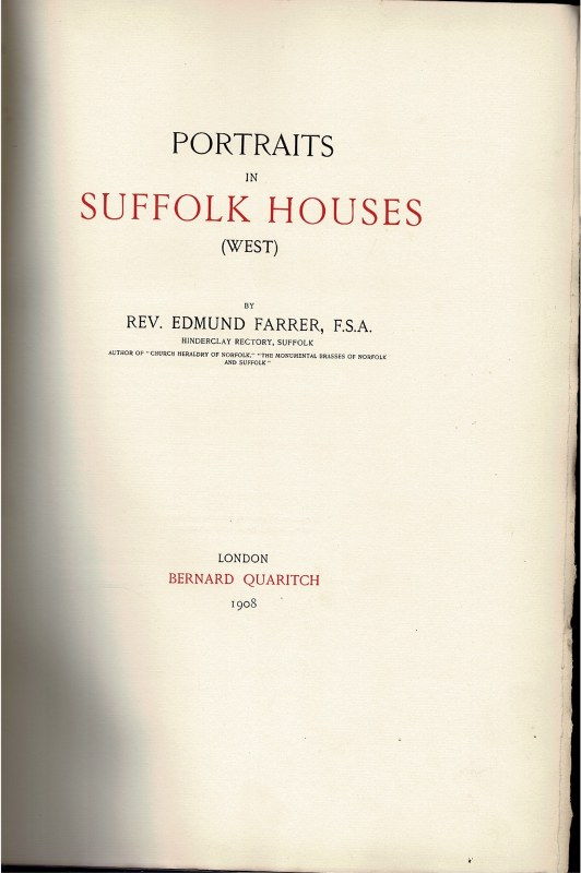 Image for Portraits in Suffolk Houses (West)