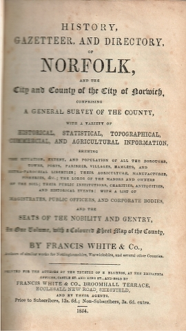 Image for History, Gazetteer and Directory of Norfolk, and the City and County of Norwich […].