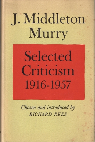 Image for J. Middleton Murry Selected Criticism 1916-1957