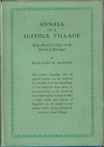 Image for Annnals of a Suffolk Village: Being Historical Notes on the Parish of Horringer
