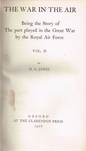 Image for The War in the Air: Being the Story of The part played in the Great War by the Royal Air Force Vol. II