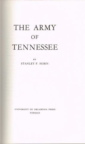 Image for The Army of Tennessee