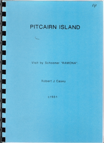 "Image for Visit by Schooner ""Ramona"" c1931 [Chapter on Pitcairn Island]"