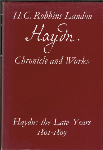 Image for Haydn: The Later Years 1801-1809