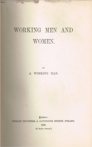 Image for Working Men and Women