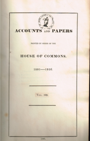 Image for Accounts and Papers Printed By Order of the House of Commons. 1801-1826. Vol. 109. [Ordnance]