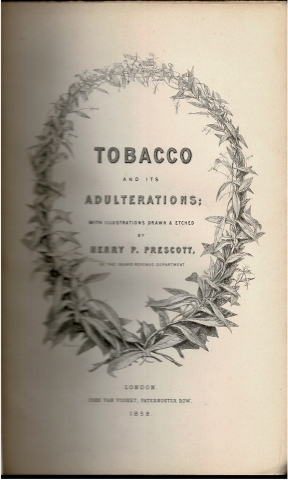 Image for Tobacco and its Adulterations; With Illustrations Drawn & Etched