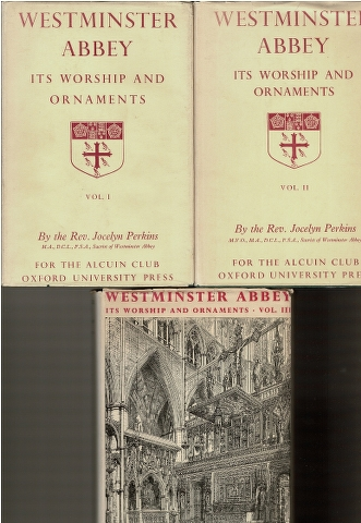 Image for Westminster Abbey: Its Worship and Ornaments. Vol. I, II, III [3 Volumes]