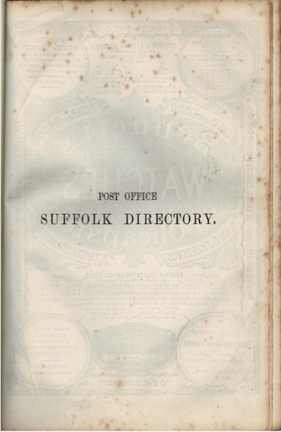 Image for Post Office Directory 1875 Suffolk