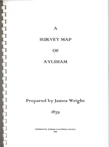 Image for A Survey Map of Aylsham Prepared by James Wright 1839