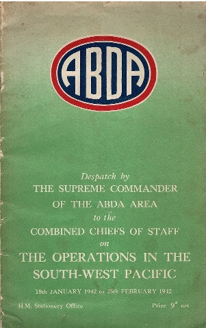 Image for Despatch by the Supreme Commander of the ABDA Area to the Combined Chiefs of Staff on the Operations in the South-West Pacific 15 January 1942 to 25 February 1942