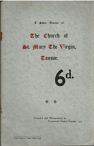 Image for A Short Account of The Church of St. Mary The Virgin, Tansor.