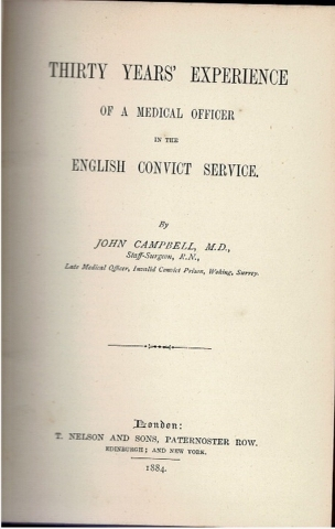 Image for Thity Years' Experience of a Medical Officer in the English Convict Service.