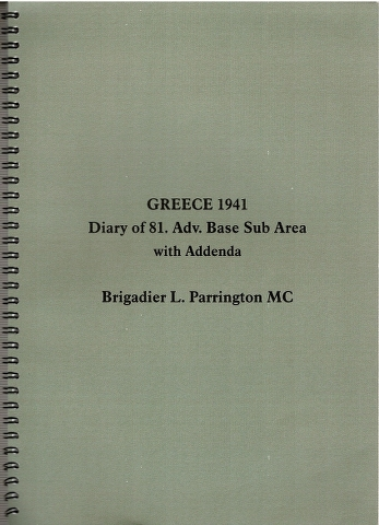 Image for Greece 1941 Diary of 81. Adv. Base Sub Area with Addenda
