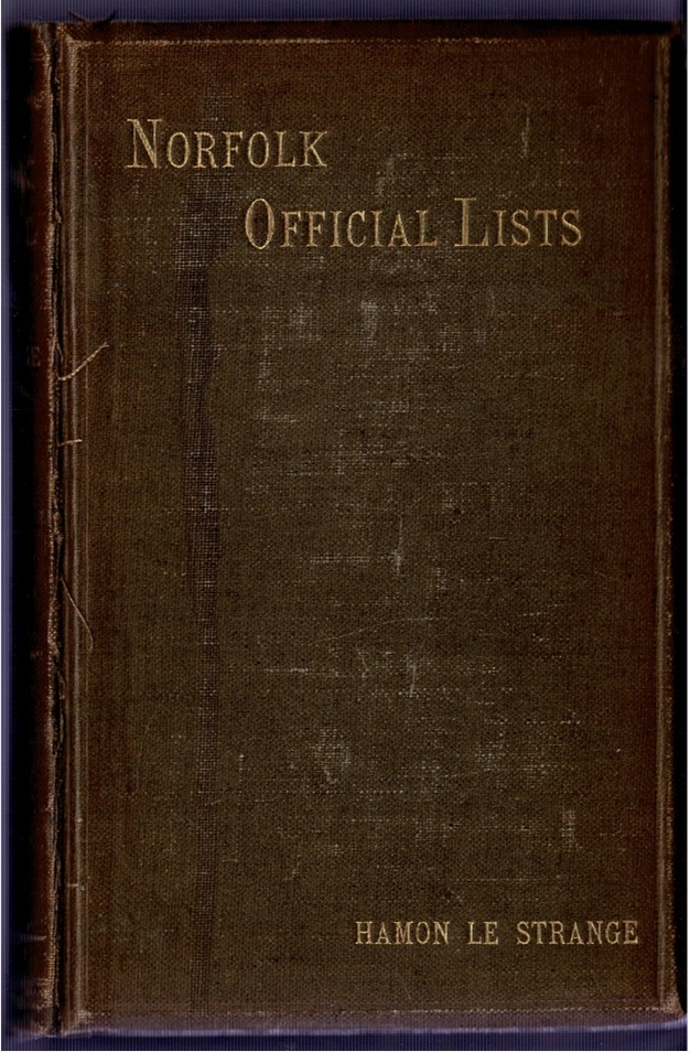 Image for Norfolk Official Lists, from the Earliest Period to the Present Day.