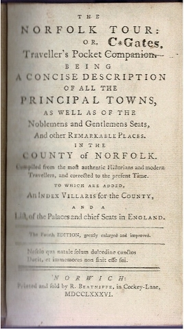 Image for The Norfolk Tour: or, Traveller's Pocket Companion [...]