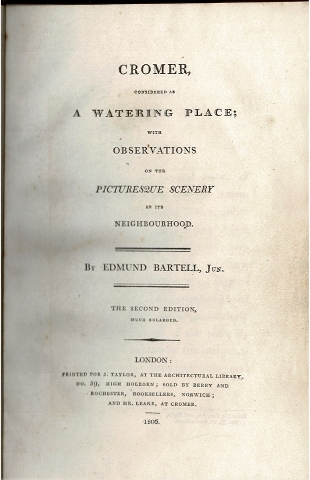 Image for Cromer considered as a Watering Place; with observations on the Picturesque Scenery in its Neighbourhood.