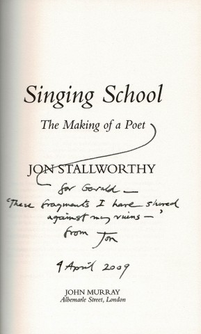 Image for Singing School: The Making of a Poet