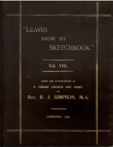 "Image for ""Leaves from my Sketchbook."" Vol. VIII. Notes and Illustrations of N. Creake Church and Abbey,"