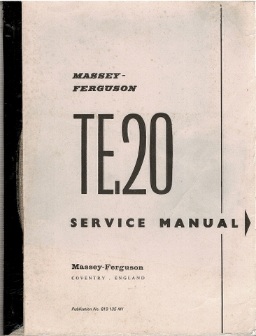 Image for Massey-Ferguson TE-20 Service Manual [Tractor]