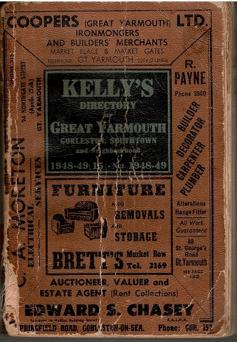 Image for Kelly's Directory of Great Yarmouth Gorleston Southtown and Neighbourhood 1948-49
