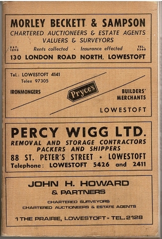 Image for Kelly's Directory of Lowestoft and Beccles 1969