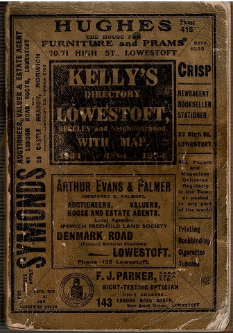 Image for Kelly's Directory of Lowestoft Beccles and Neighbourhood 1934