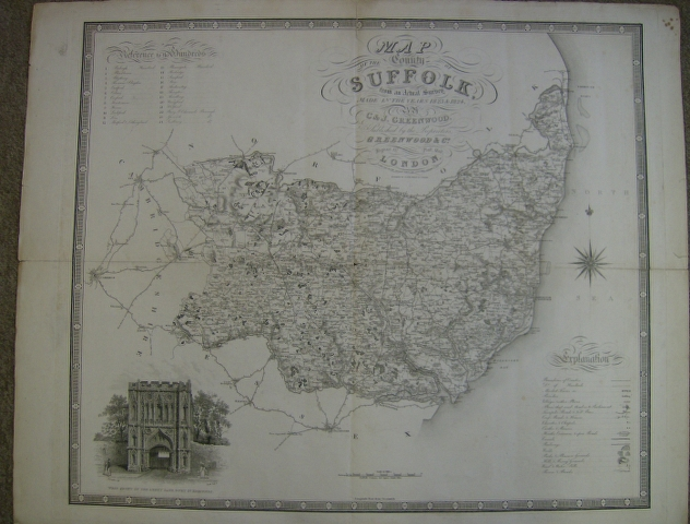 Image for Map of the County of Suffolk from an actual survey made in the years 1823 & 1824.
