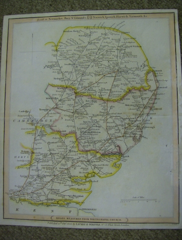 Image for Map of Norfolk, Suffolk and Essex