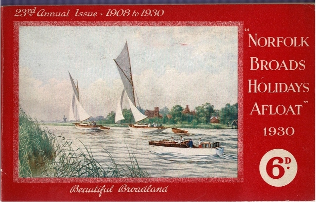 "Image for ""Norfolk Broads Holidays Afloat"" 1930"
