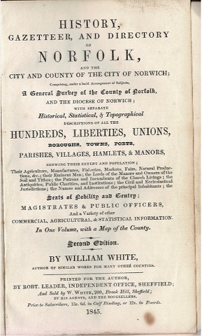 Image for History, Gazetteer and Directory of Norfolk, and the City and County of the City of Norwich [...]
