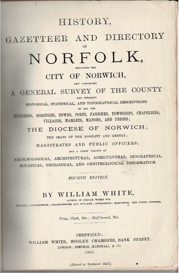Image for History, Gazetteer and Directory of Norfolk, including the City of Norwich [...]