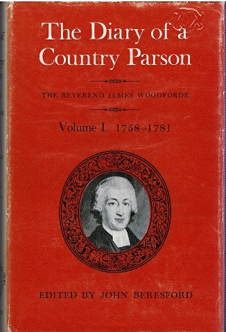 Image for The Diary of a Country Parson The Reverend James Woodforde Volume I, II, III, IV, V [5 Volumes]