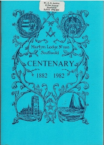 Image for History of the Martyn Lodge Number 1983 in the Register of the Grand Lodge of England 1882-1982